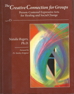 Trained by Dr Natalie Rogers. applying the principles of Person Centred Expressive Arts therapy